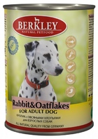 Berkley Rabbit & Oatflakes  Adult Dog   Беркли консервы для собак Кролик с овсяными хлопьями